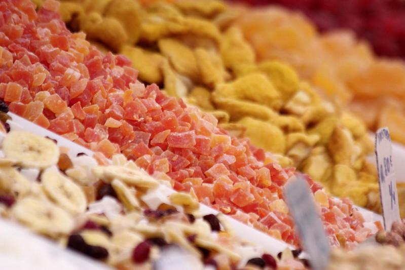 Alimentação para ciclista, prova de MTB, frutas secas
