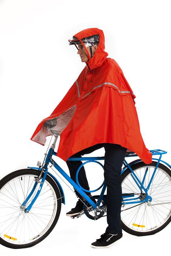 Presente para ciclista, capa de chuva