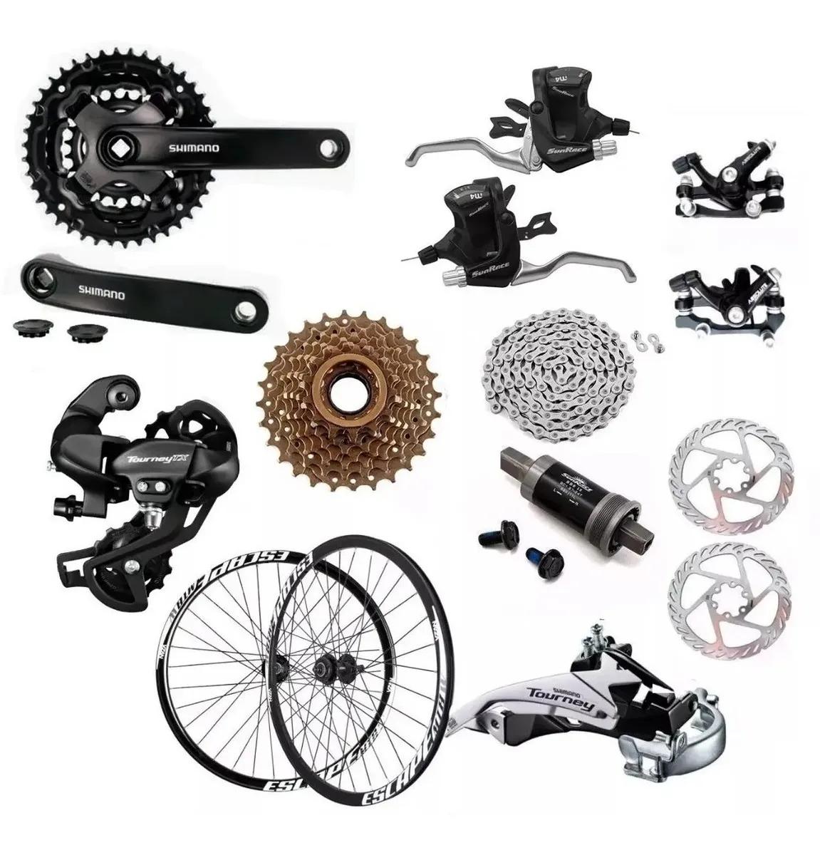 Montar uma bike, grupo Shimano Tourney