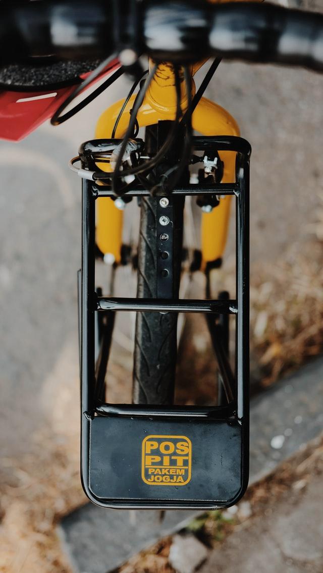 Bagageiro de bike visto por cima