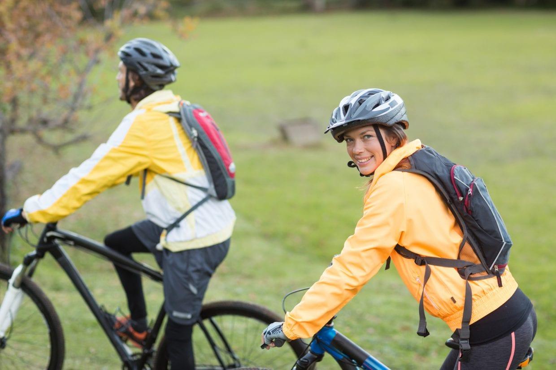 mochila para ciclista