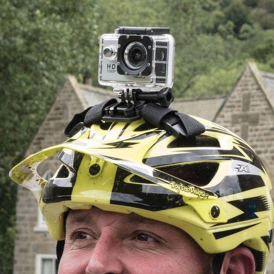 câmera no capacete